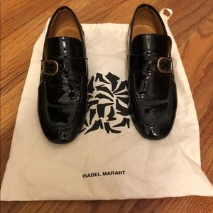 ISABEL MARANT AUGUST BLACK PATENT LEATHER LOAFERS